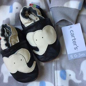 Baby Elephant Carter's Baby Sleep Bag + booties